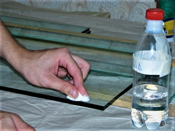 Подготовка стекла к резке
